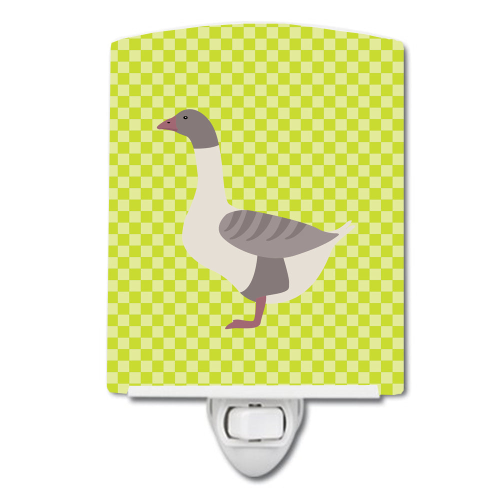 Buff Grey Back Goose Green Ceramic Night Light BB7727CNL by Caroline's Treasures