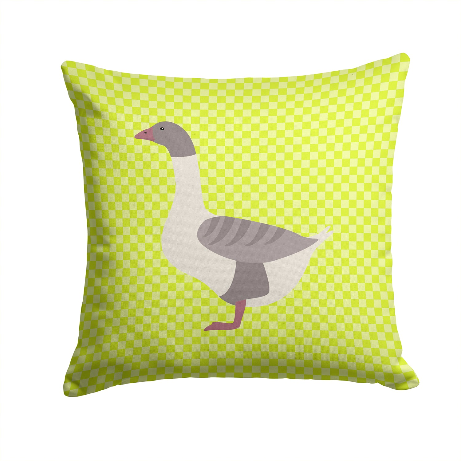 Buff Grey Back Goose Green Fabric Decorative Pillow BB7727PW1414 by Caroline's Treasures