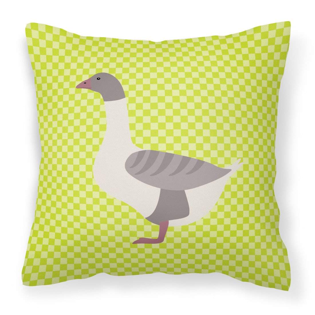 Buff Grey Back Goose Green Fabric Decorative Pillow BB7727PW1818 by Caroline's Treasures