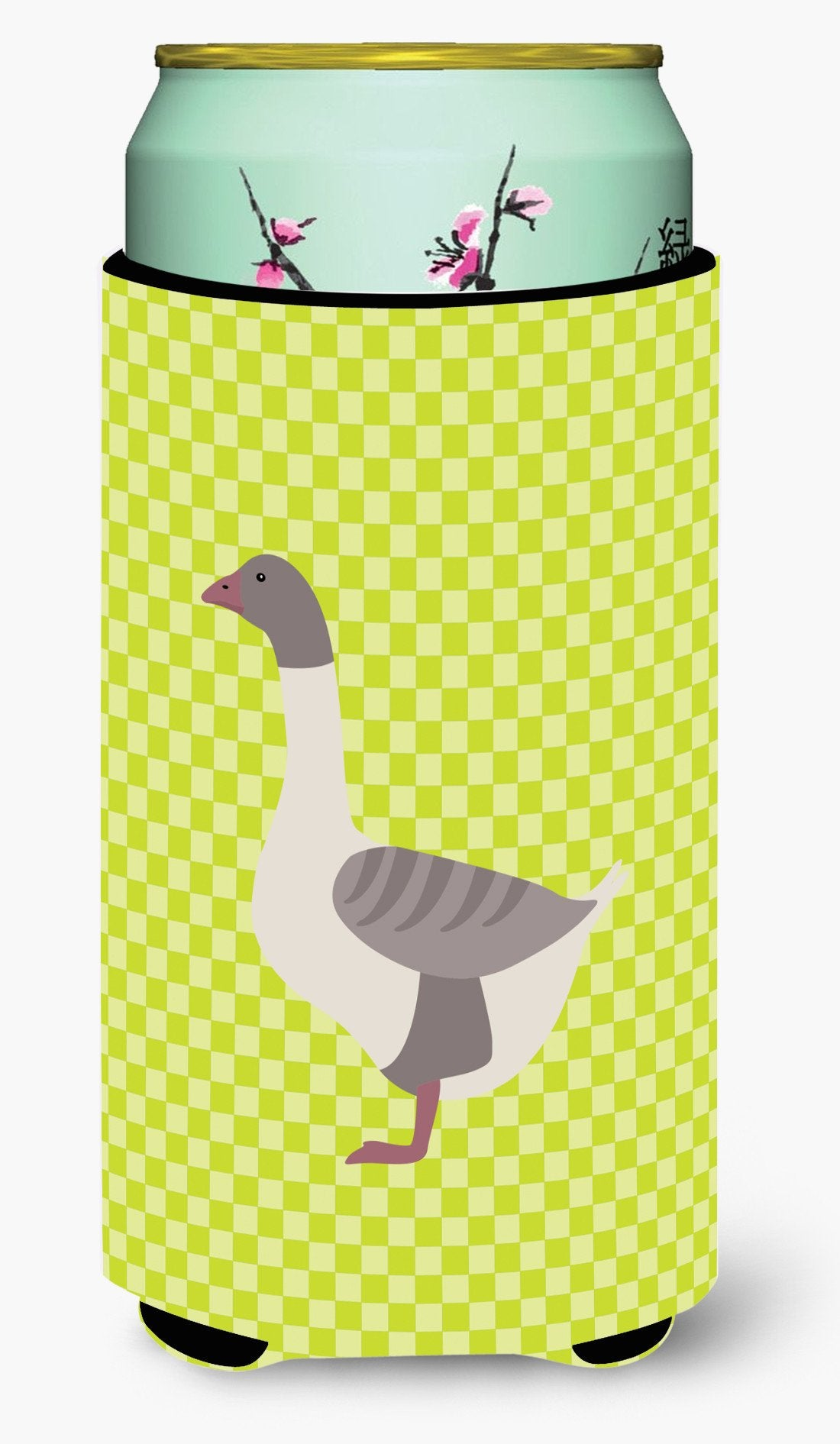 Buff Grey Back Goose Green Tall Boy Beverage Insulator Hugger BB7727TBC by Caroline's Treasures