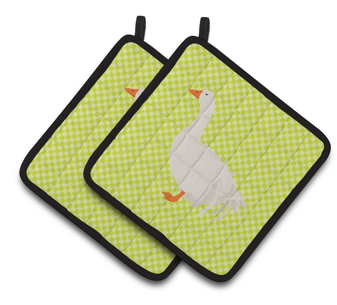 Sebastopol Goose Green Pair of Pot Holders BB7728PTHD by Caroline's Treasures