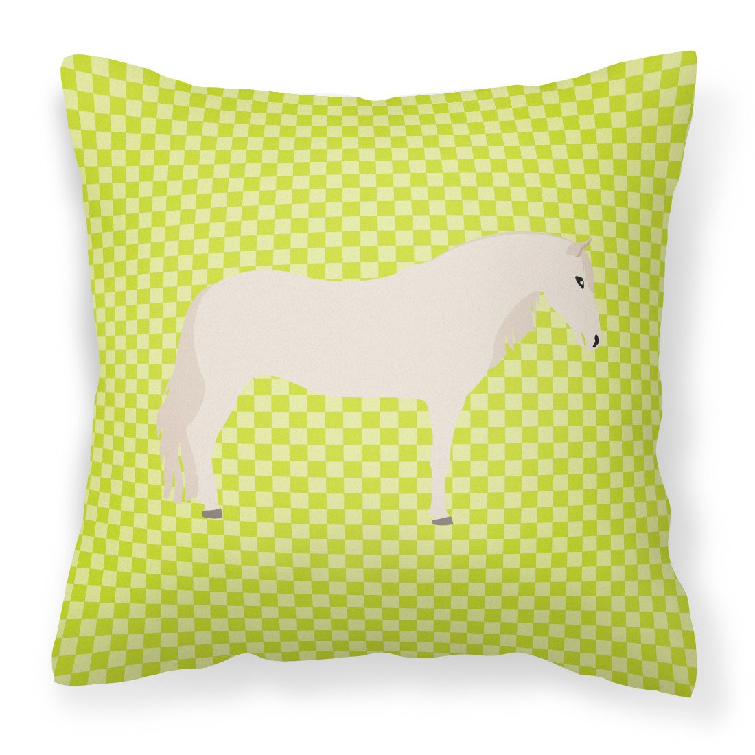 Paso Fino Horse Green Fabric Decorative Pillow BB7731PW1818 by Caroline's Treasures