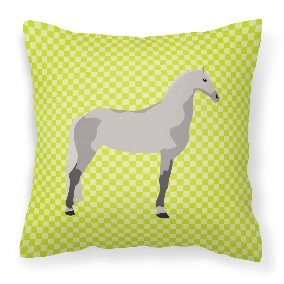 Orlov Trotter Horse Green Fabric Decorative Pillow BB7734PW1818 by Caroline's Treasures