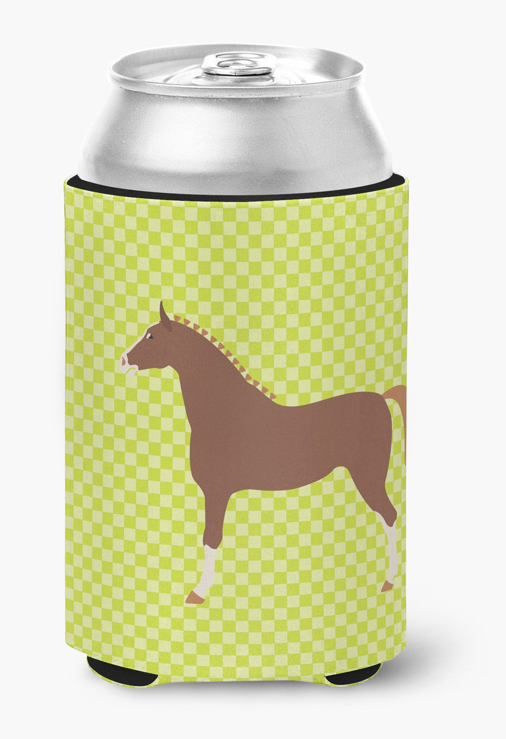 Hannoverian Horse Green Can or Bottle Hugger BB7735CC by Caroline's Treasures