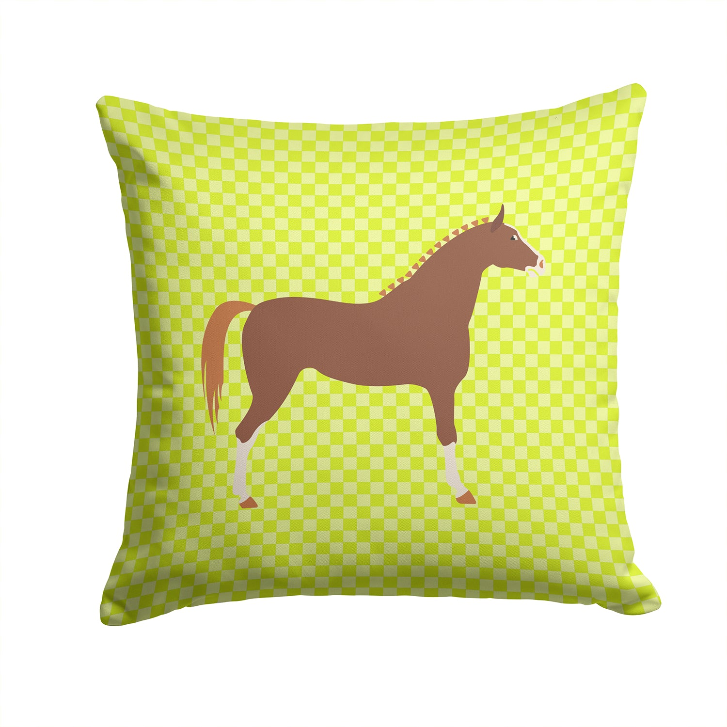 Hannoverian Horse Green Fabric Decorative Pillow BB7735PW1414 by Caroline's Treasures
