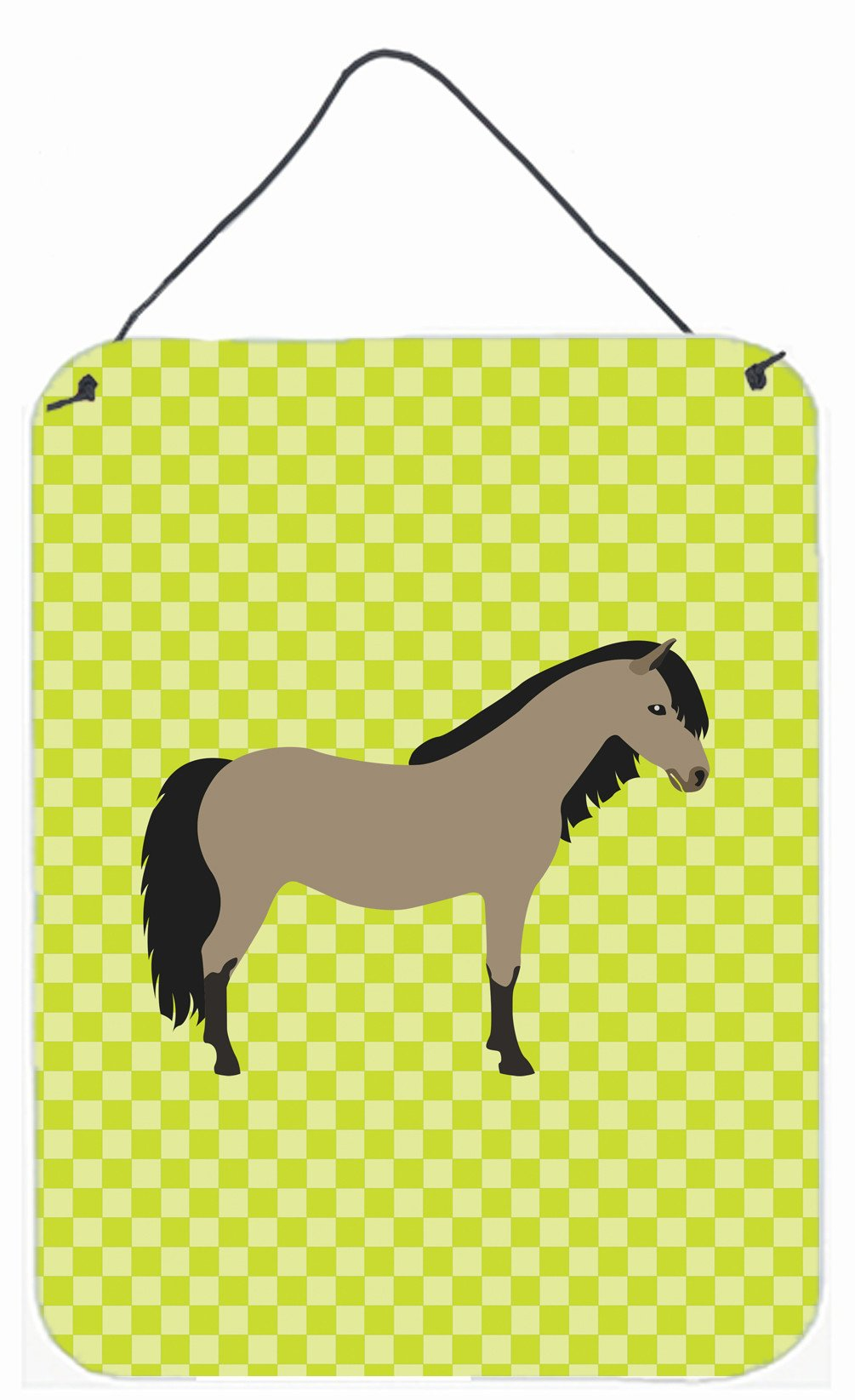 Welsh Pony Horse Green Wall or Door Hanging Prints BB7736DS1216 by Caroline's Treasures