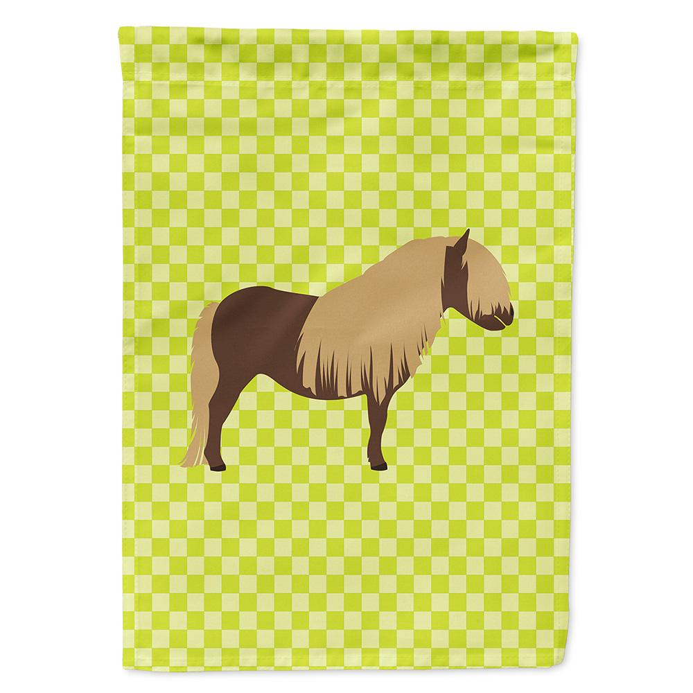Shetland Pony Horse Green Flag Garden Size by Caroline's Treasures