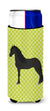 Friesian Horse Green Michelob Ultra Hugger for slim cans by Caroline's Treasures