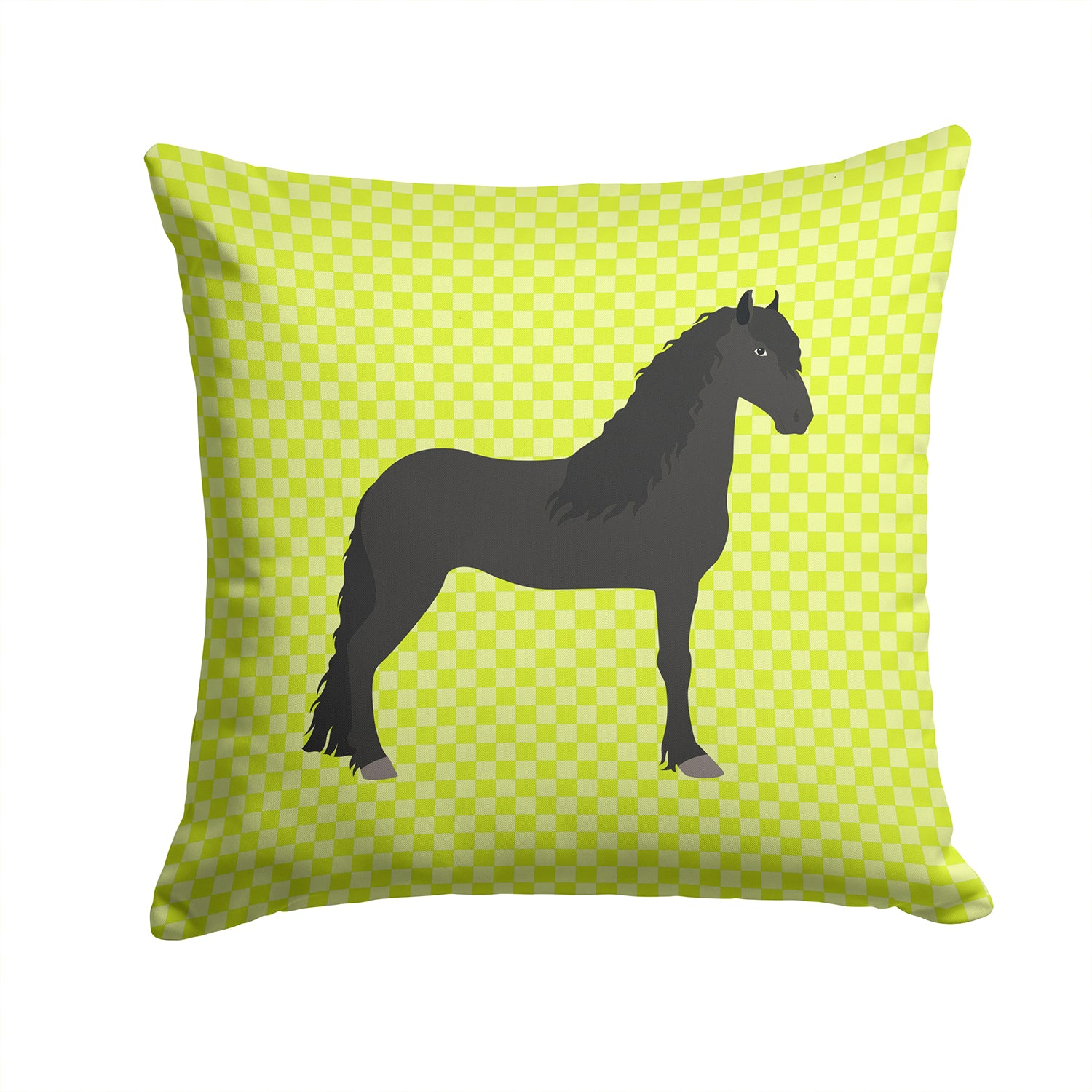 Friesian Horse Green Fabric Decorative Pillow BB7741PW1414 by Caroline's Treasures