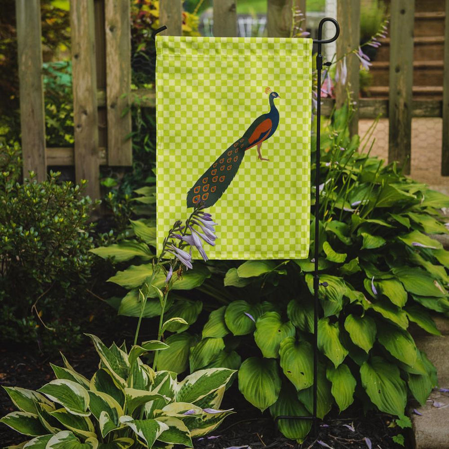 Buy this Indian Peacock Peafowl Green Flag Garden Size