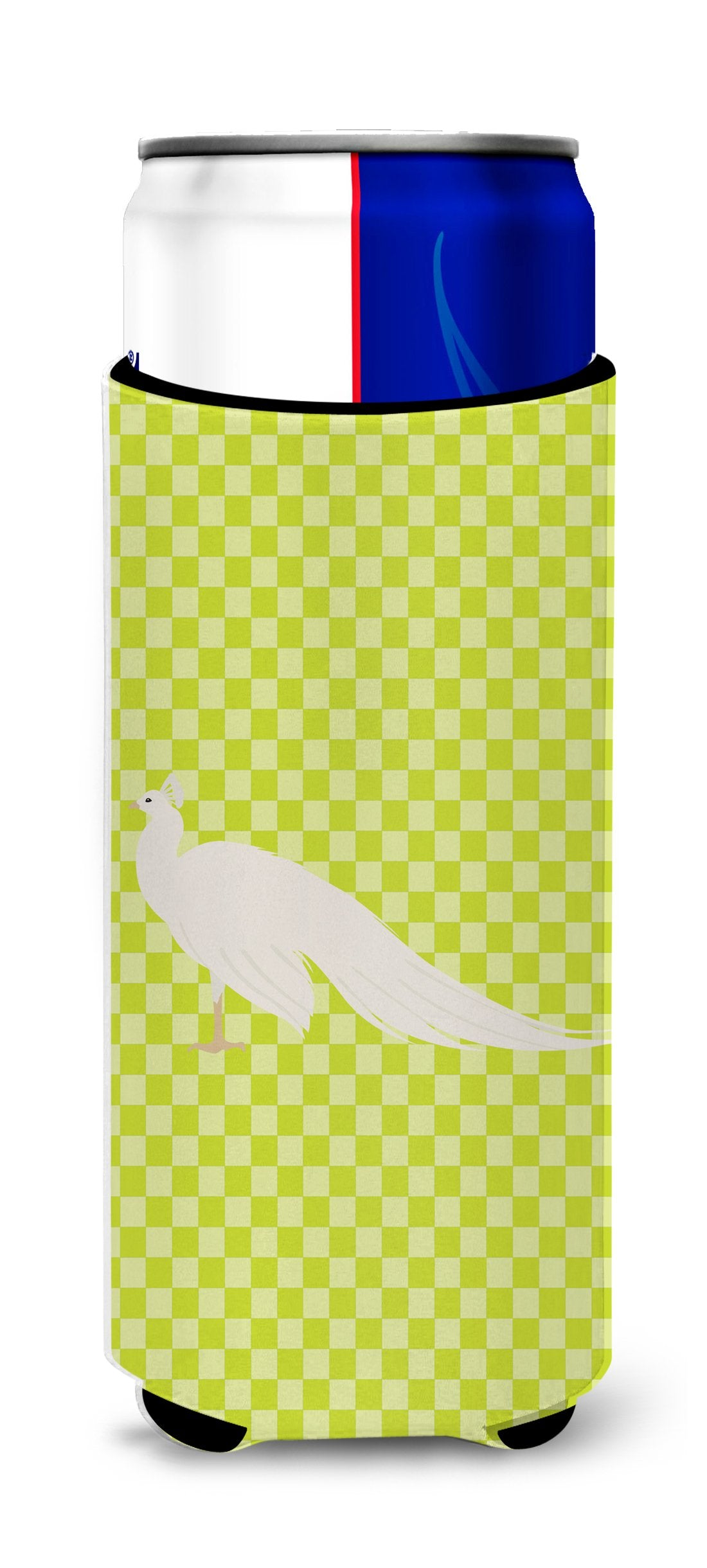 Buy this White Peacock Peafowl Green Michelob Ultra Hugger for slim cans