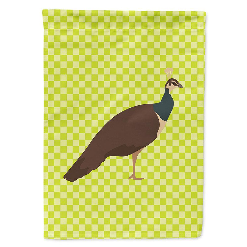 Buy this Indian Peahen Peafowl Green Flag Garden Size
