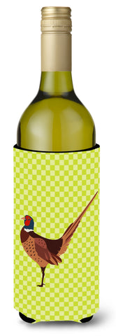 Buy this Ring-necked Common Pheasant Green Wine Bottle Beverge Insulator Hugger BB7756LITERK