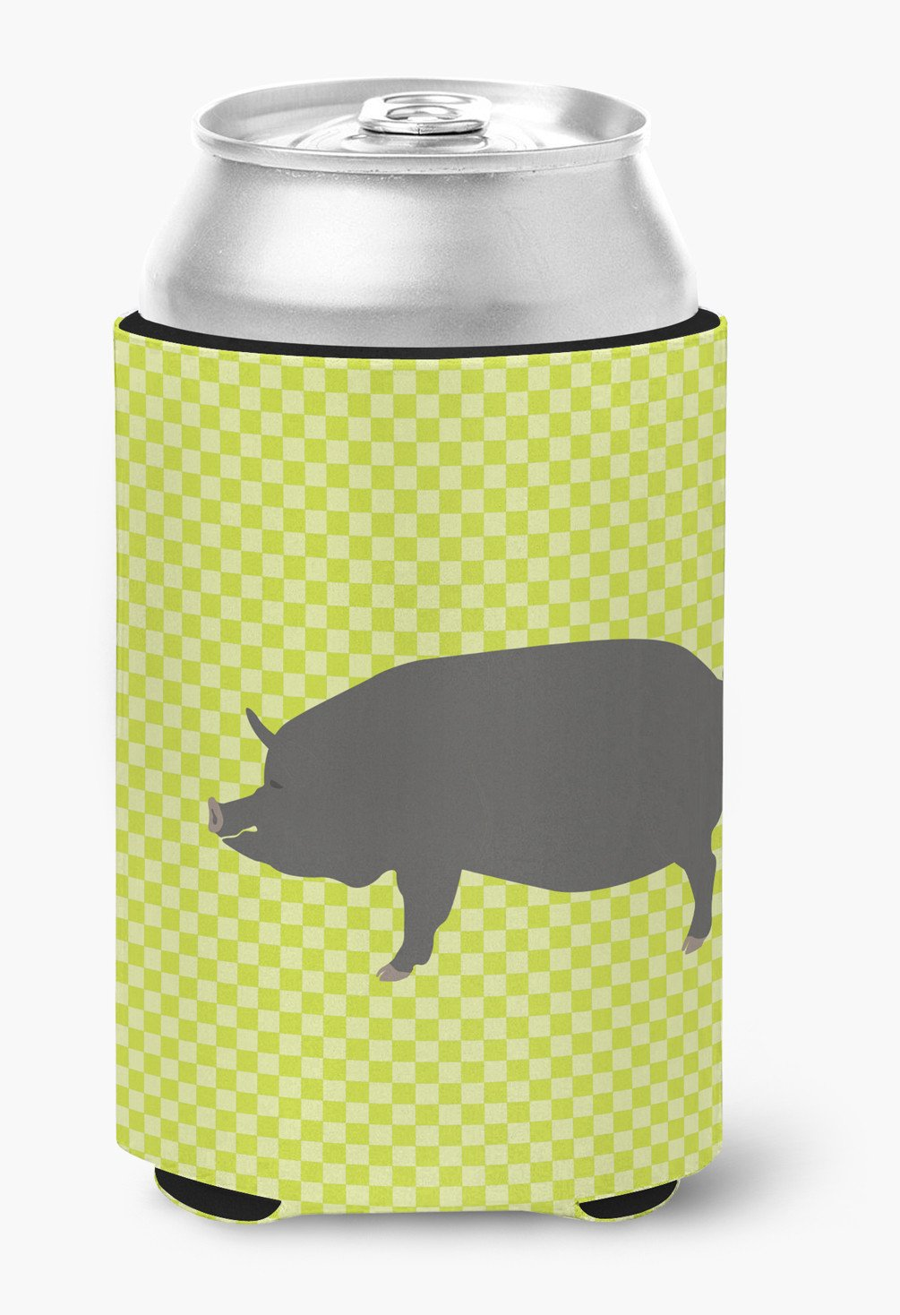 Berkshire Pig Green Can or Bottle Hugger BB7759CC by Caroline's Treasures