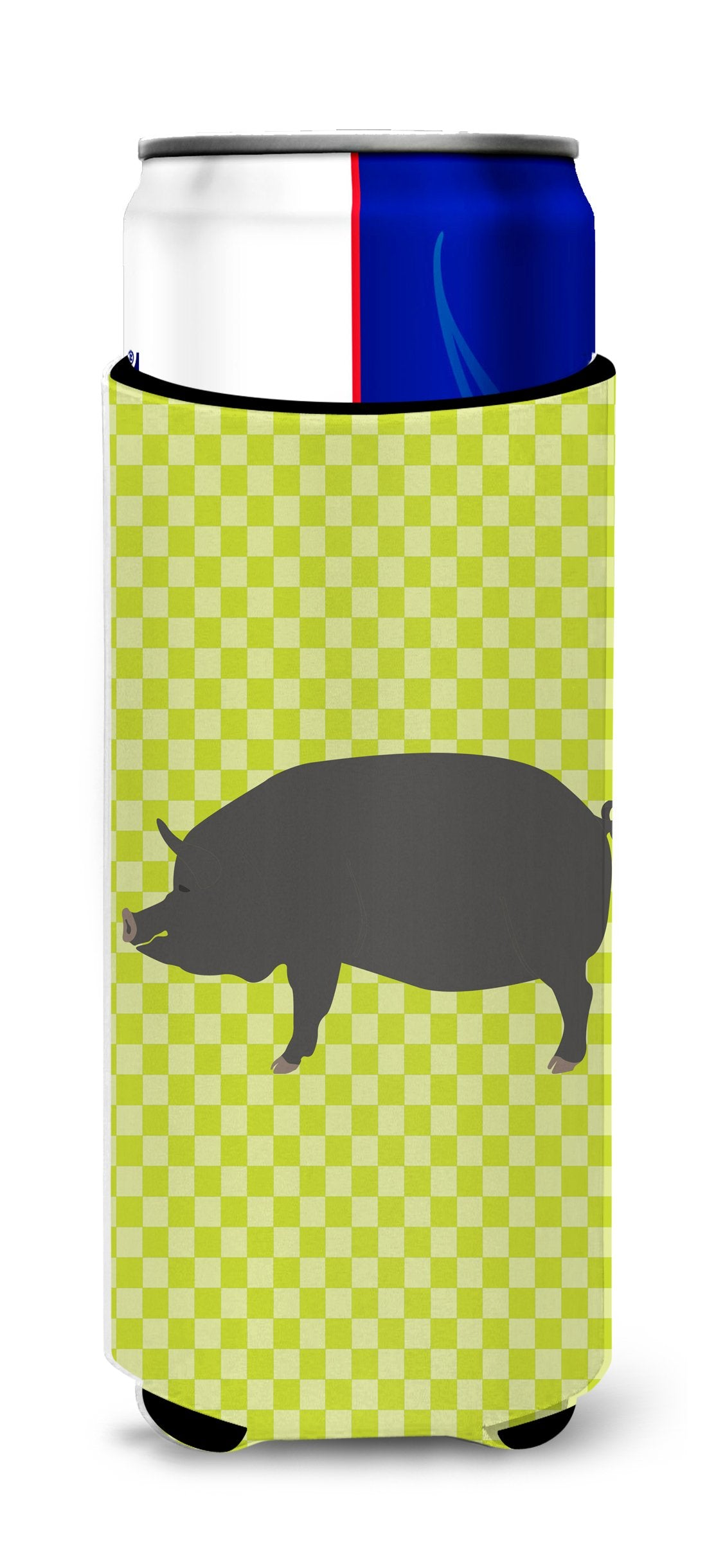 Berkshire Pig Green Michelob Ultra Hugger for slim cans by Caroline's Treasures
