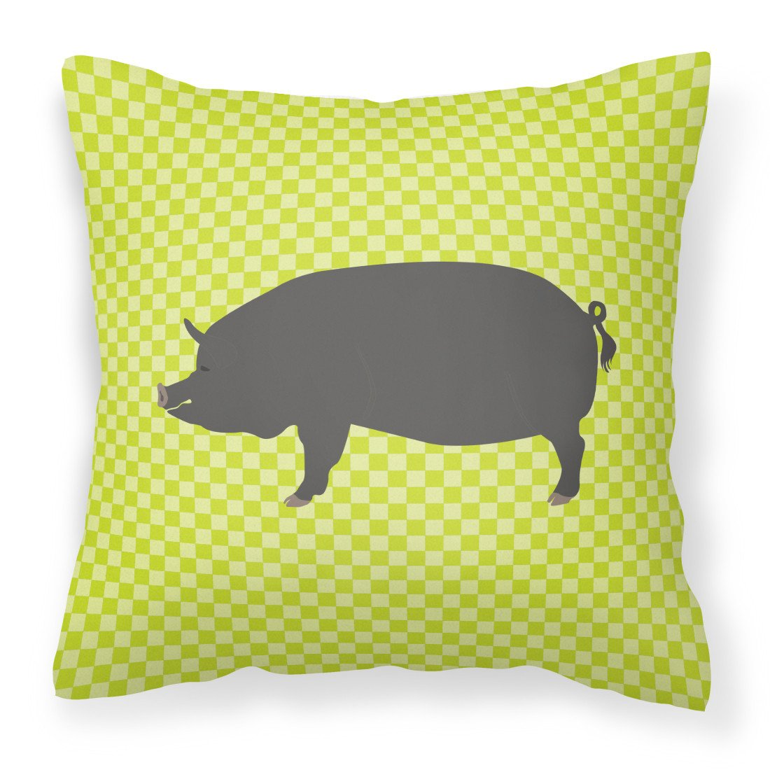 Berkshire Pig Green Fabric Decorative Pillow BB7759PW1818 by Caroline's Treasures