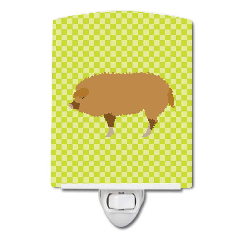 Hungarian Mangalica Pig Green Ceramic Night Light BB7760CNL by Caroline's Treasures