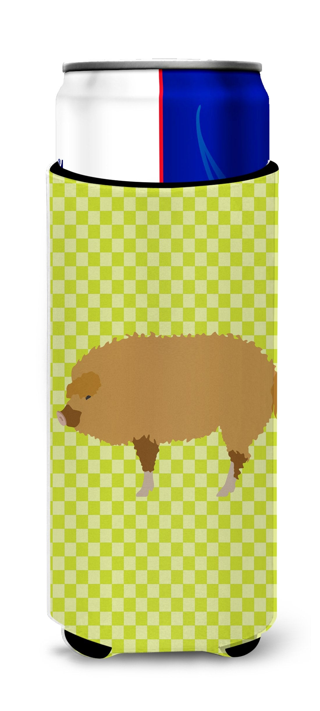 Hungarian Mangalica Pig Green Michelob Ultra Hugger for slim cans by Caroline's Treasures