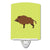 Buy this Wild Boar Pig Green Ceramic Night Light BB7762CNL