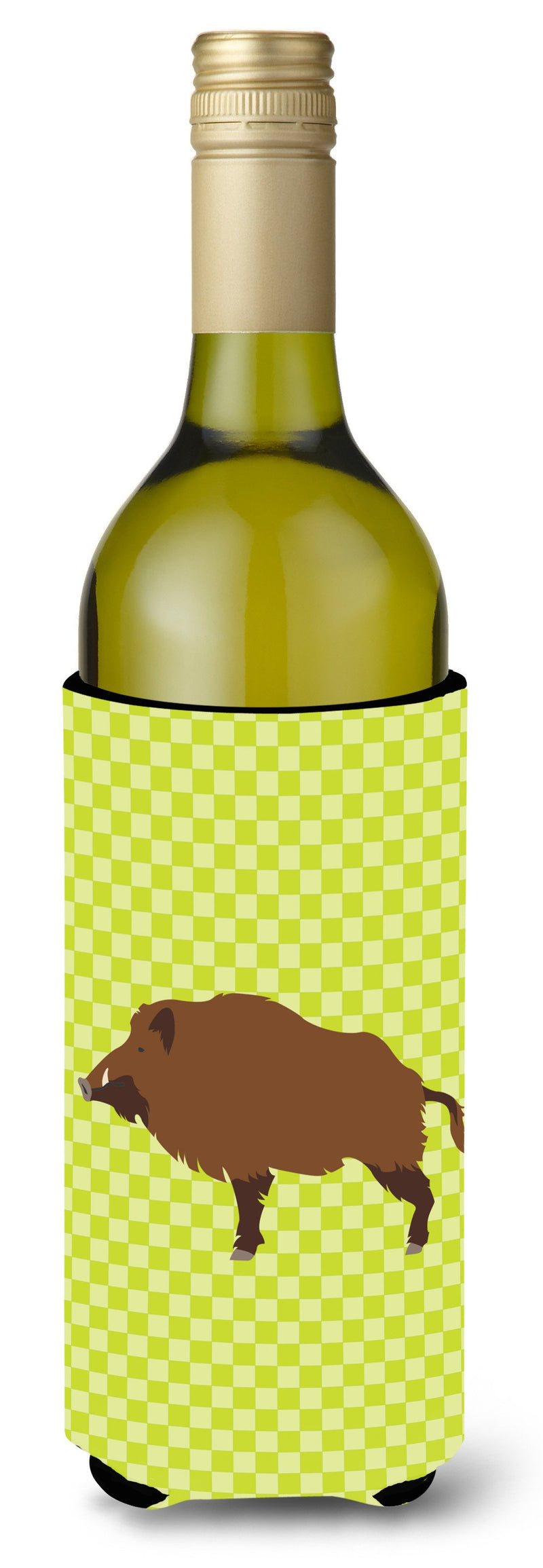 Buy this Wild Boar Pig Green Wine Bottle Beverge Insulator Hugger BB7762LITERK