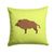 Wild Boar Pig Green Fabric Decorative Pillow BB7762PW1414 by Caroline's Treasures