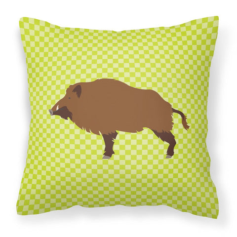 Buy this Wild Boar Pig Green Fabric Decorative Pillow BB7762PW1818