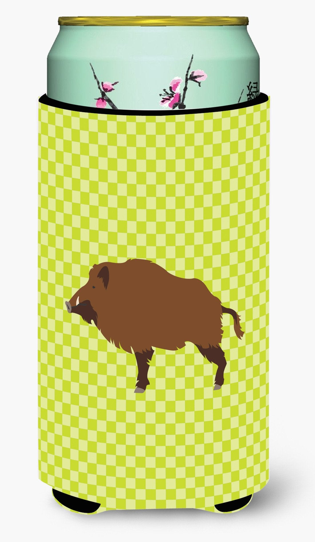 Buy this Wild Boar Pig Green Tall Boy Beverage Insulator Hugger BB7762TBC