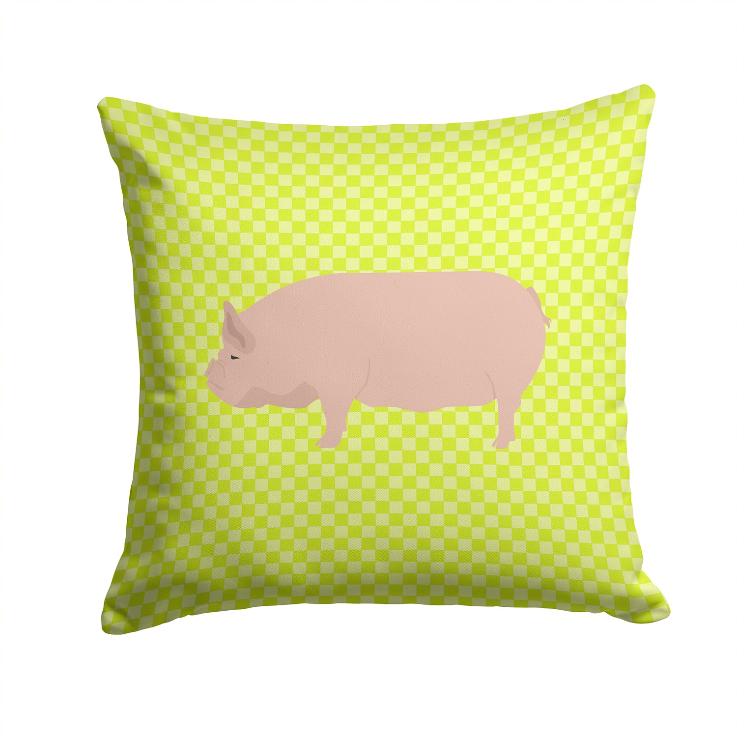 Welsh Pig Green Fabric Decorative Pillow BB7763PW1414 by Caroline's Treasures