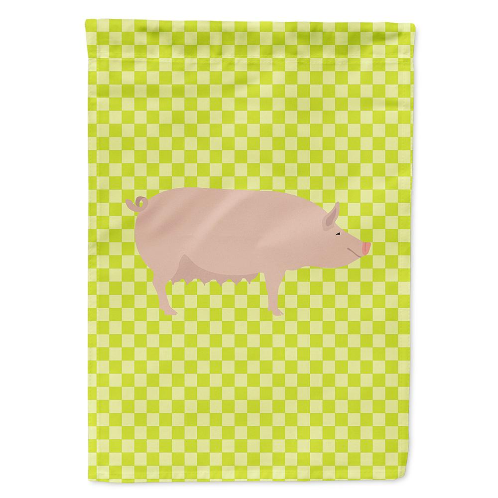 Buy this English Large White Pig Green Flag Garden Size