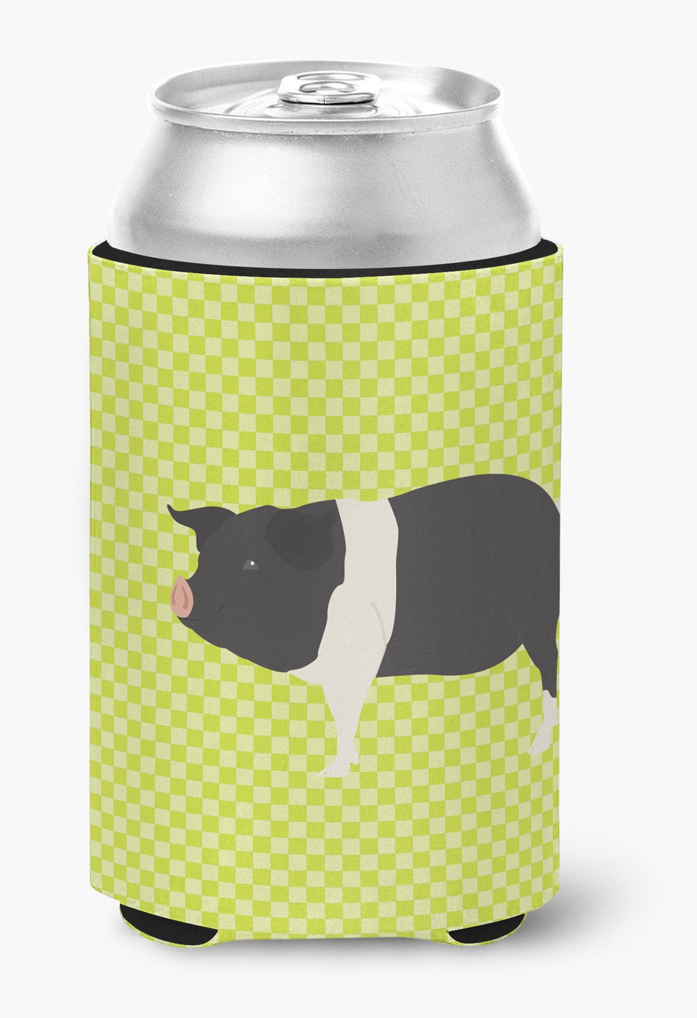 Hampshire Pig Green Can or Bottle Hugger BB7765CC by Caroline's Treasures