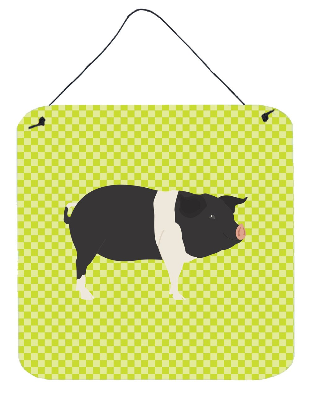 Hampshire Pig Green Wall or Door Hanging Prints BB7765DS66 by Caroline's Treasures