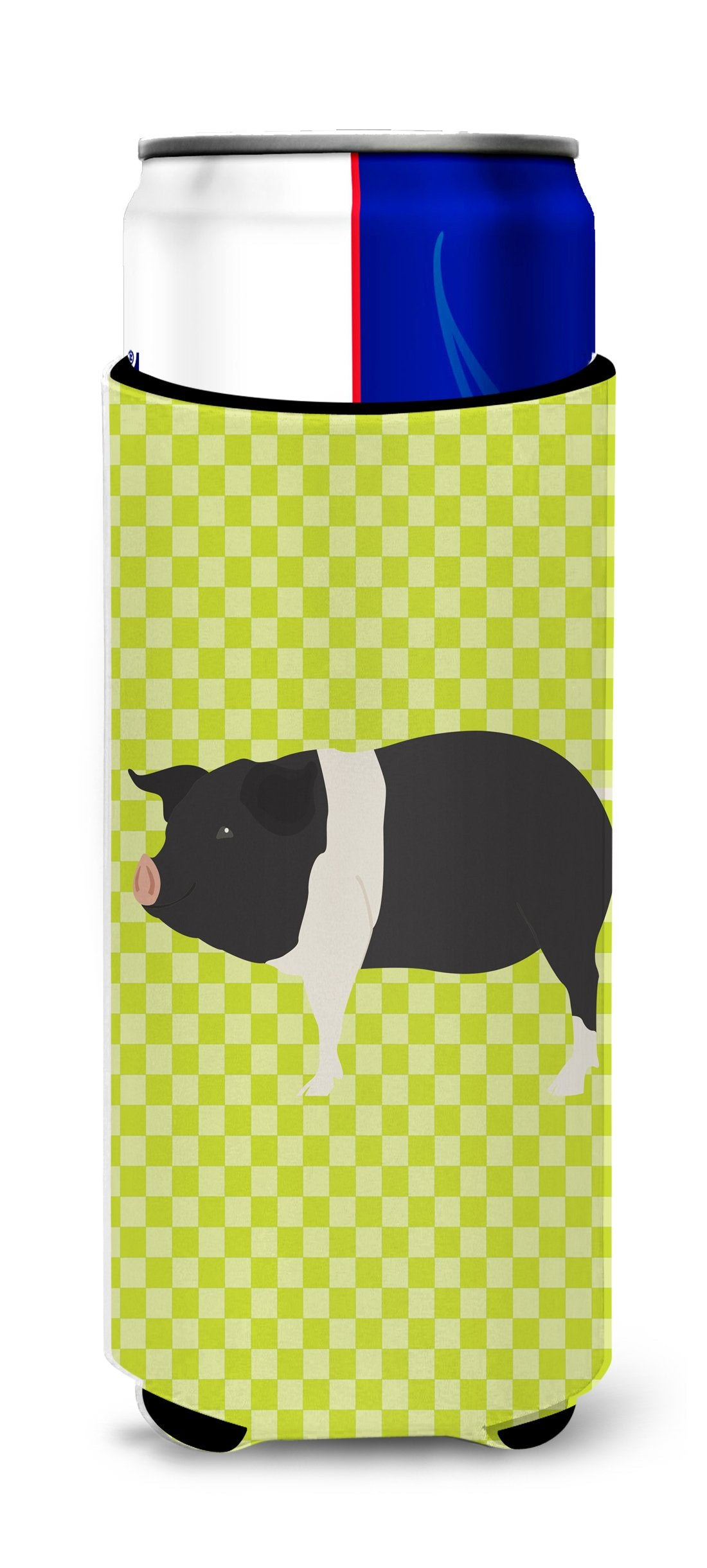 Hampshire Pig Green Michelob Ultra Hugger for slim cans by Caroline's Treasures
