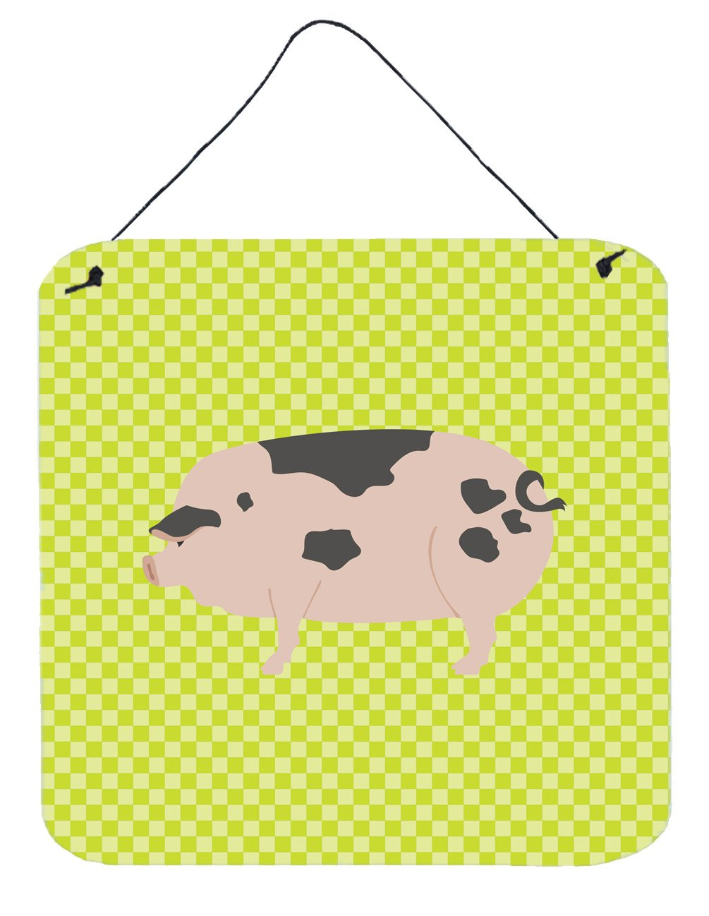 Gloucester Old Spot Pig Green Wall or Door Hanging Prints BB7766DS66 by Caroline's Treasures