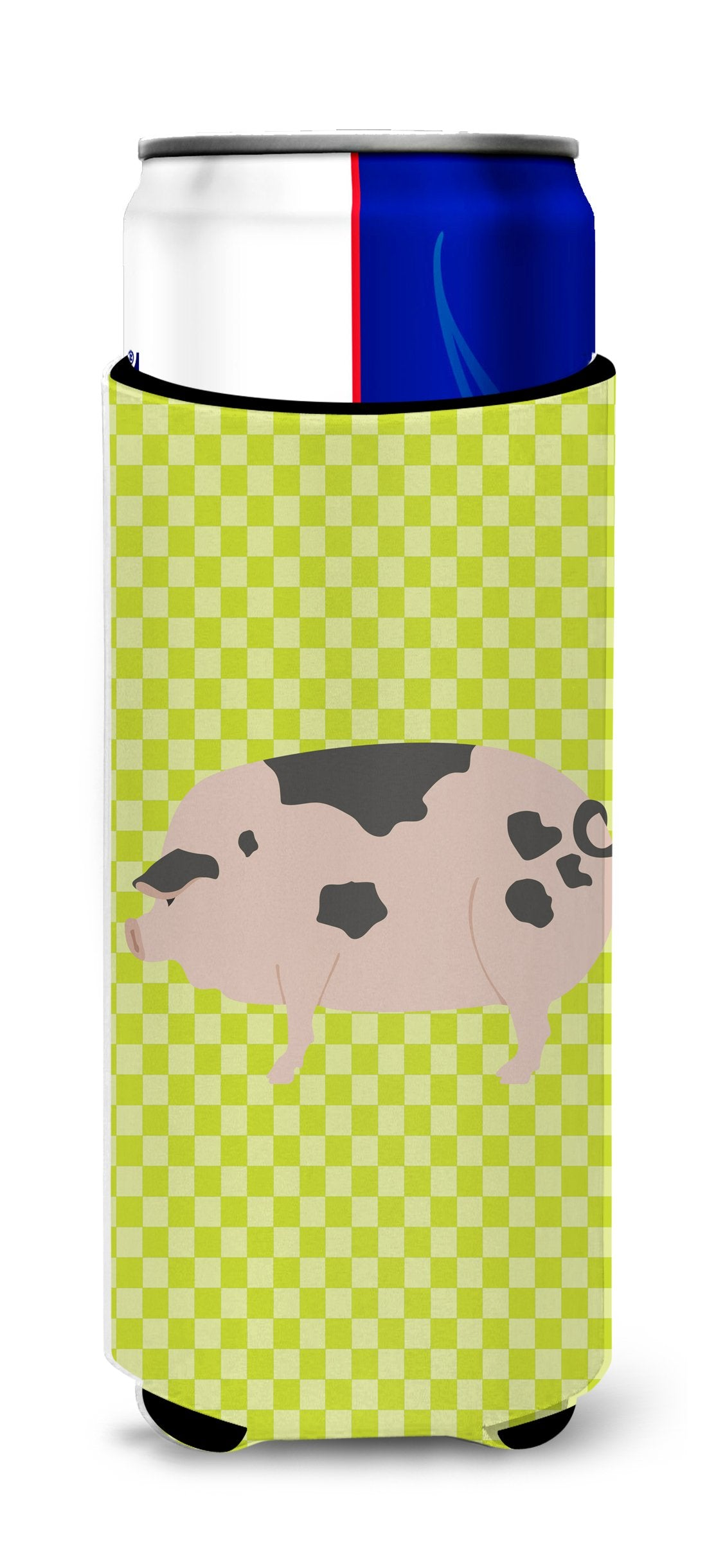 Gloucester Old Spot Pig Green Michelob Ultra Hugger for slim cans by Caroline's Treasures