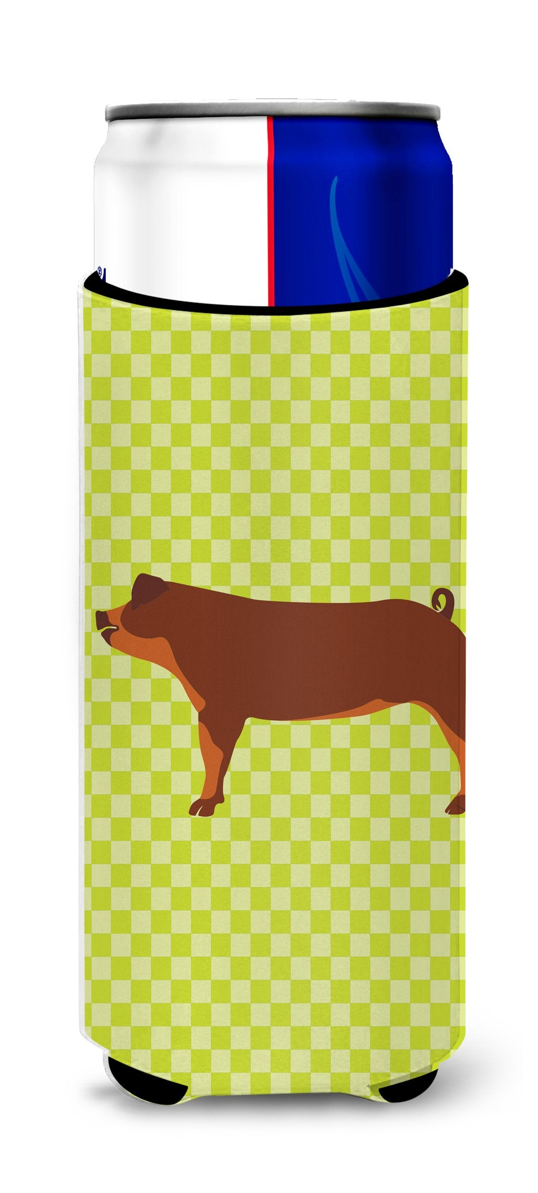 Duroc Pig Green Michelob Ultra Hugger for slim cans by Caroline's Treasures