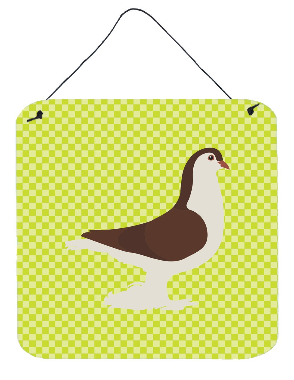 Large Pigeon Green Wall or Door Hanging Prints BB7769DS66 by Caroline's Treasures