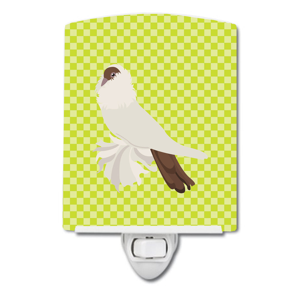 German Helmet Pigeon Green Ceramic Night Light BB7770CNL by Caroline's Treasures