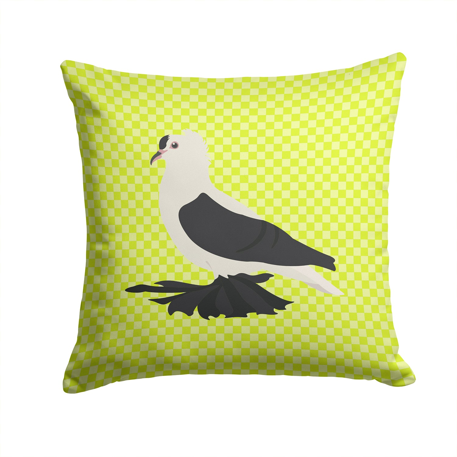 Saxon Fairy Swallow Pigeon Green Fabric Decorative Pillow BB7772PW1414 by Caroline's Treasures