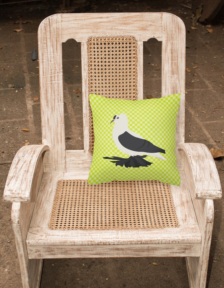 Buy this Saxon Fairy Swallow Pigeon Green Fabric Decorative Pillow BB7772PW1818