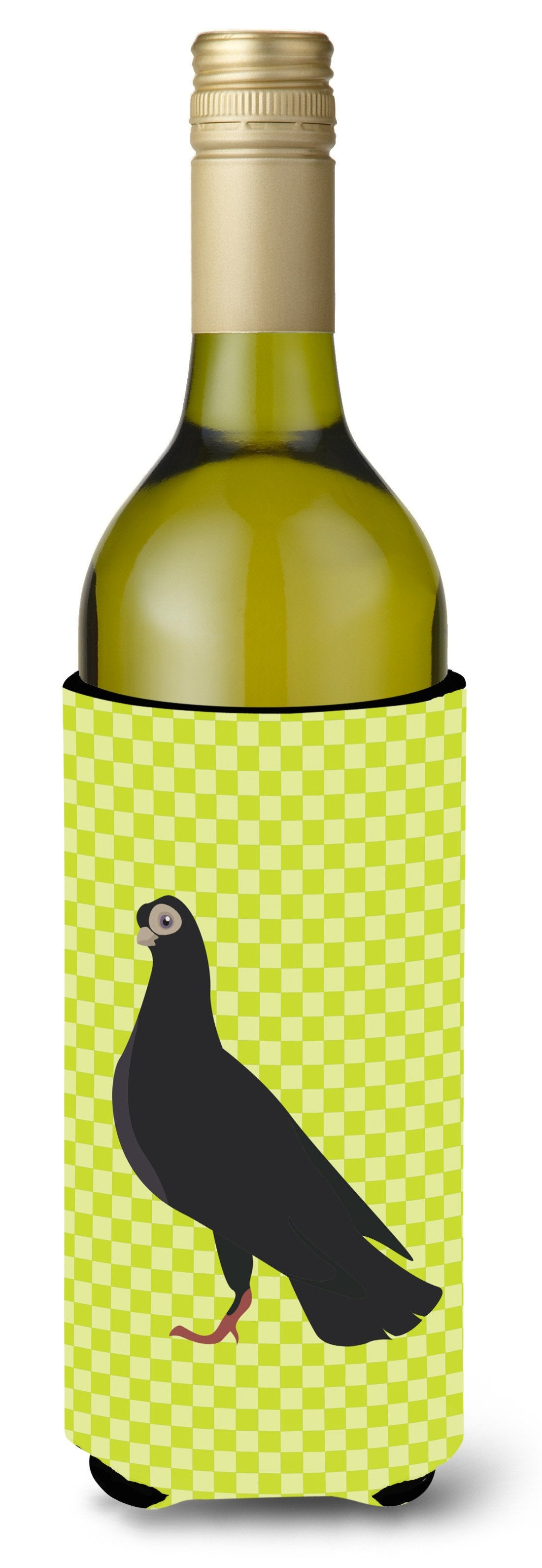 Budapest Highflyer Pigeon Green Wine Bottle Beverge Insulator Hugger BB7773LITERK by Caroline's Treasures