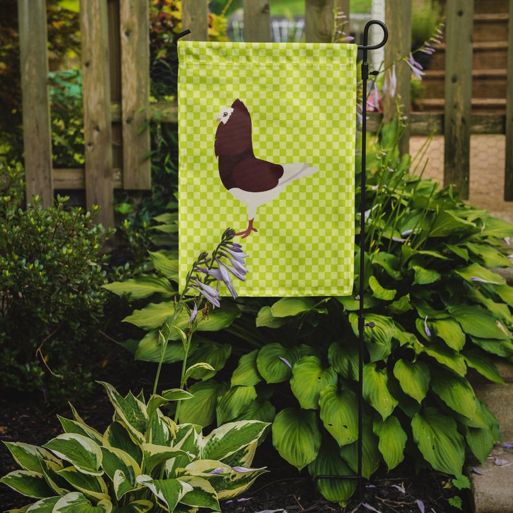 Capuchin Red Pigeon Green Flag Garden Size by Caroline's Treasures