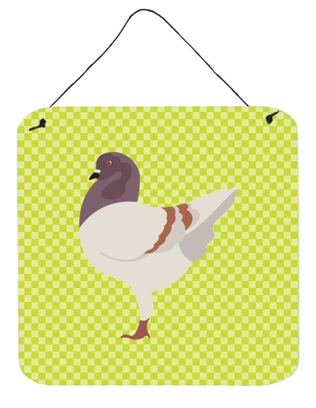 German Modena Pigeon Green Wall or Door Hanging Prints BB7775DS66 by Caroline's Treasures
