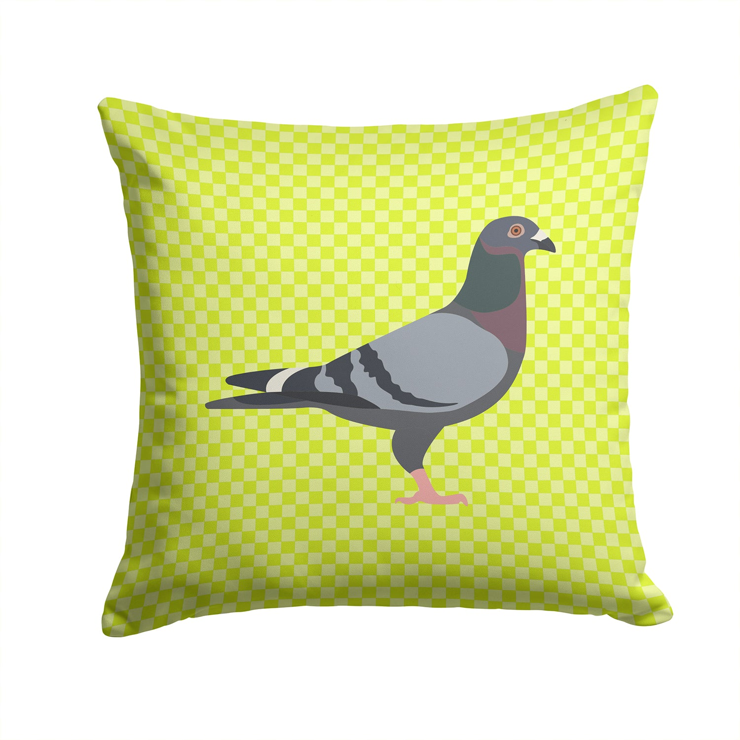 Buy this Racing Pigeon Green Fabric Decorative Pillow BB7777PW1414