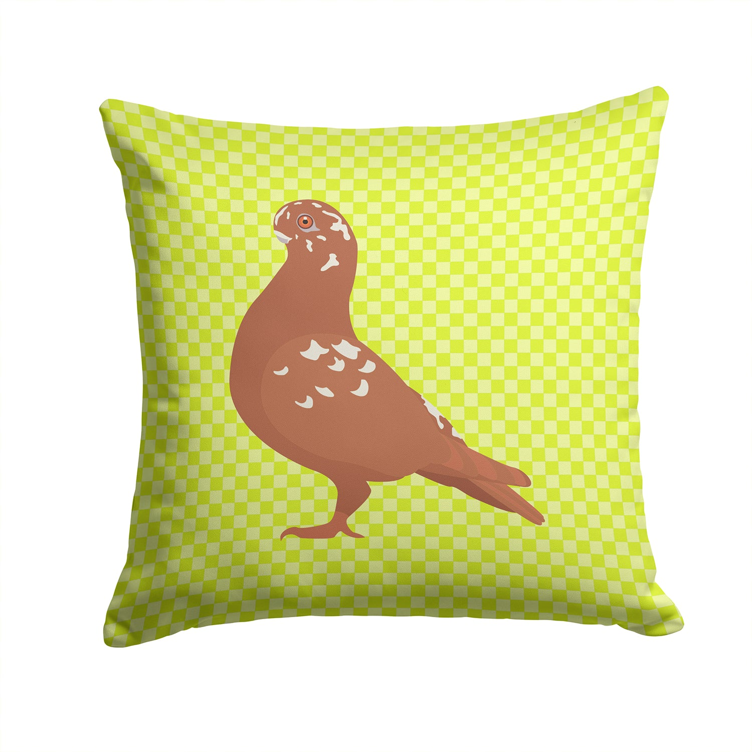 Buy this African Owl Pigeon Green Fabric Decorative Pillow BB7779PW1414