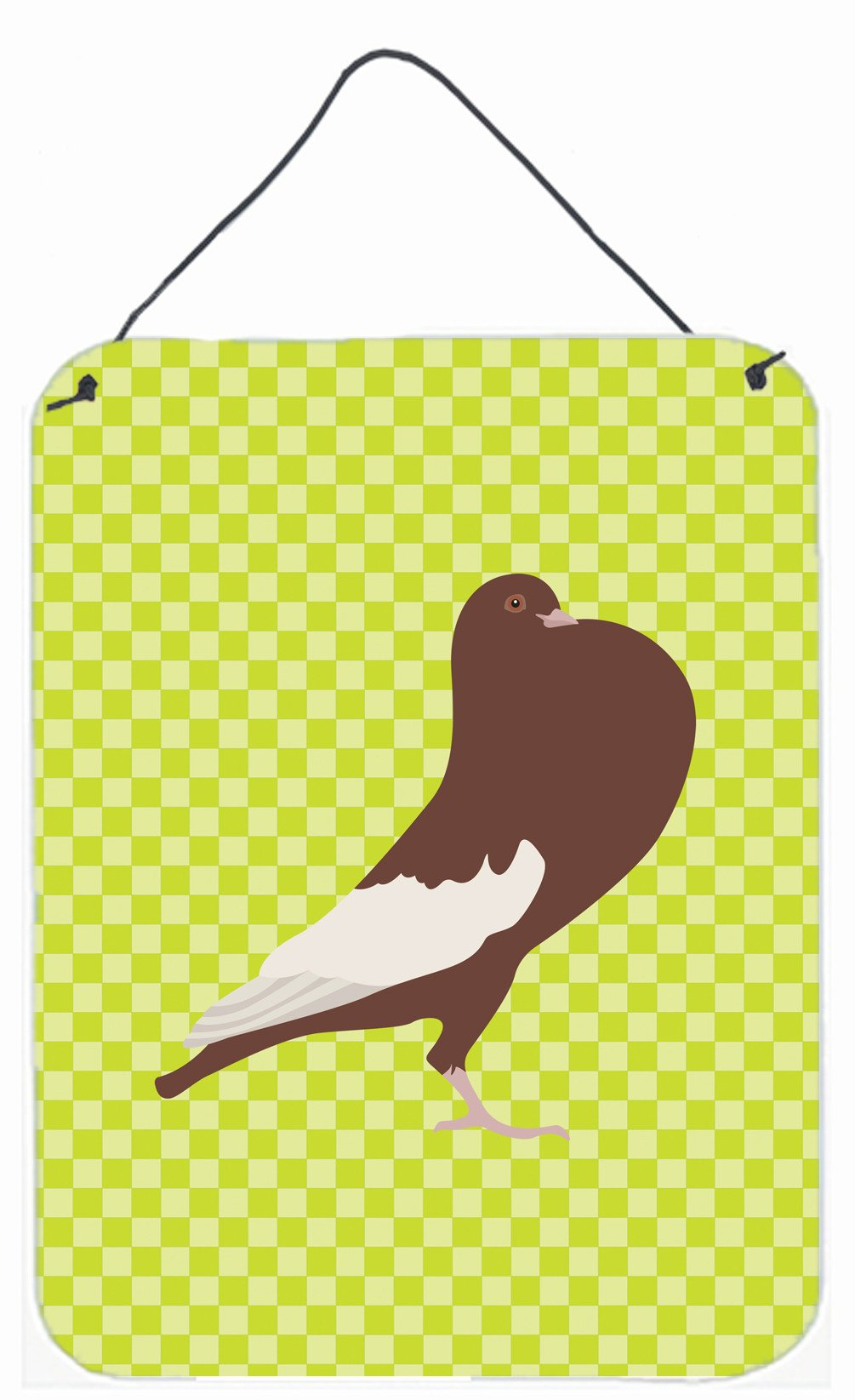 Buy this English Pouter Pigeon Green Wall or Door Hanging Prints BB7780DS1216
