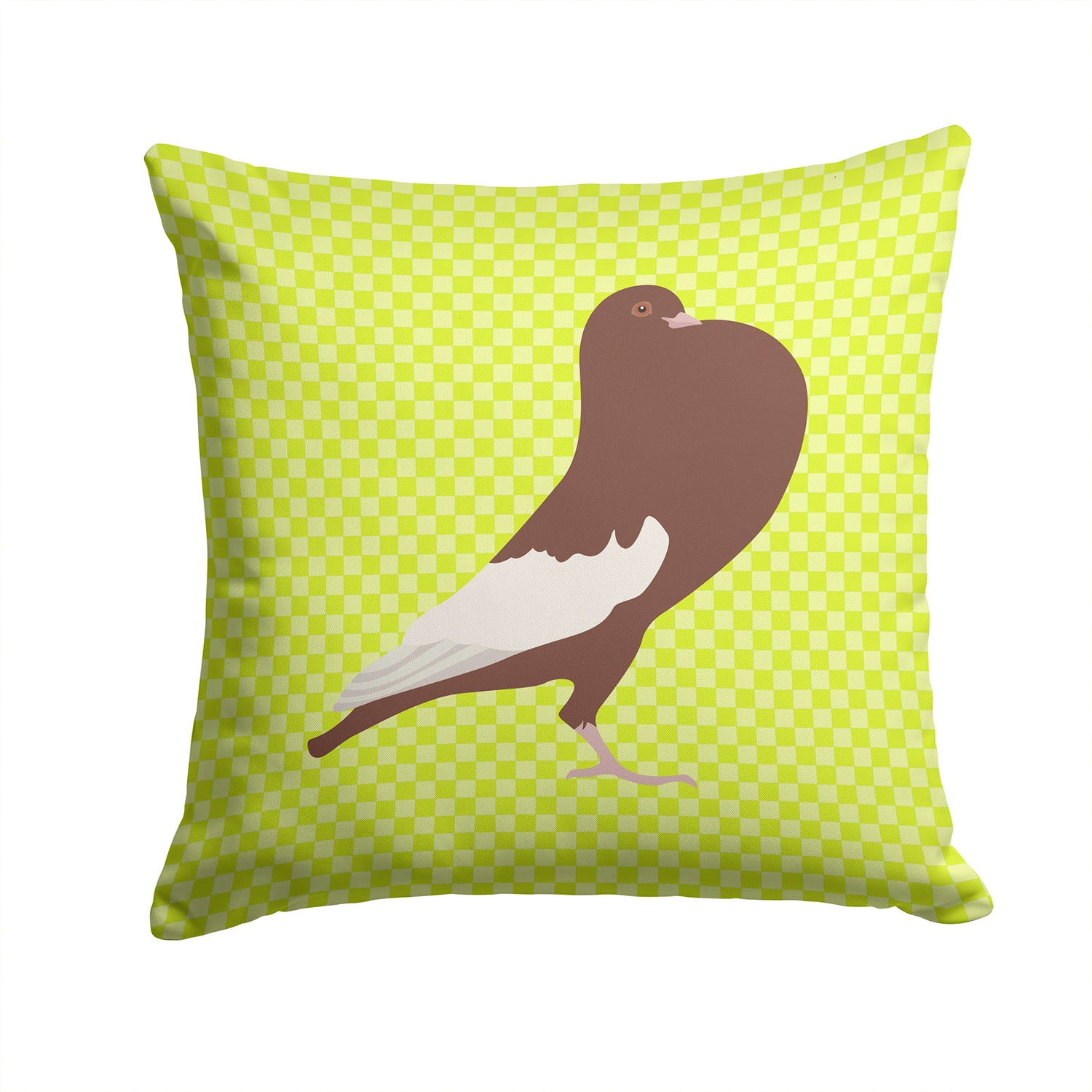 Buy this English Pouter Pigeon Green Fabric Decorative Pillow BB7780PW1414