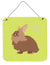 Lionhead Rabbit Green Wall or Door Hanging Prints BB7786DS66 by Caroline's Treasures