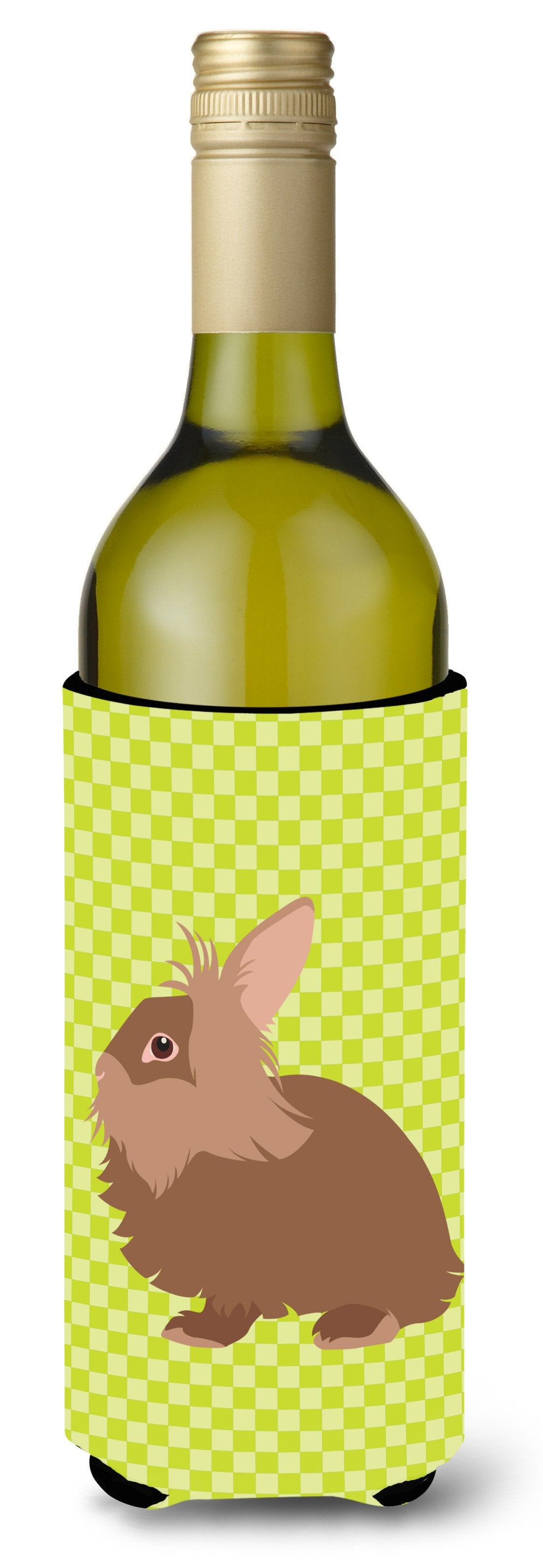 Lionhead Rabbit Green Wine Bottle Beverge Insulator Hugger BB7786LITERK by Caroline's Treasures