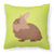 Lionhead Rabbit Green Fabric Decorative Pillow BB7786PW1818 by Caroline's Treasures