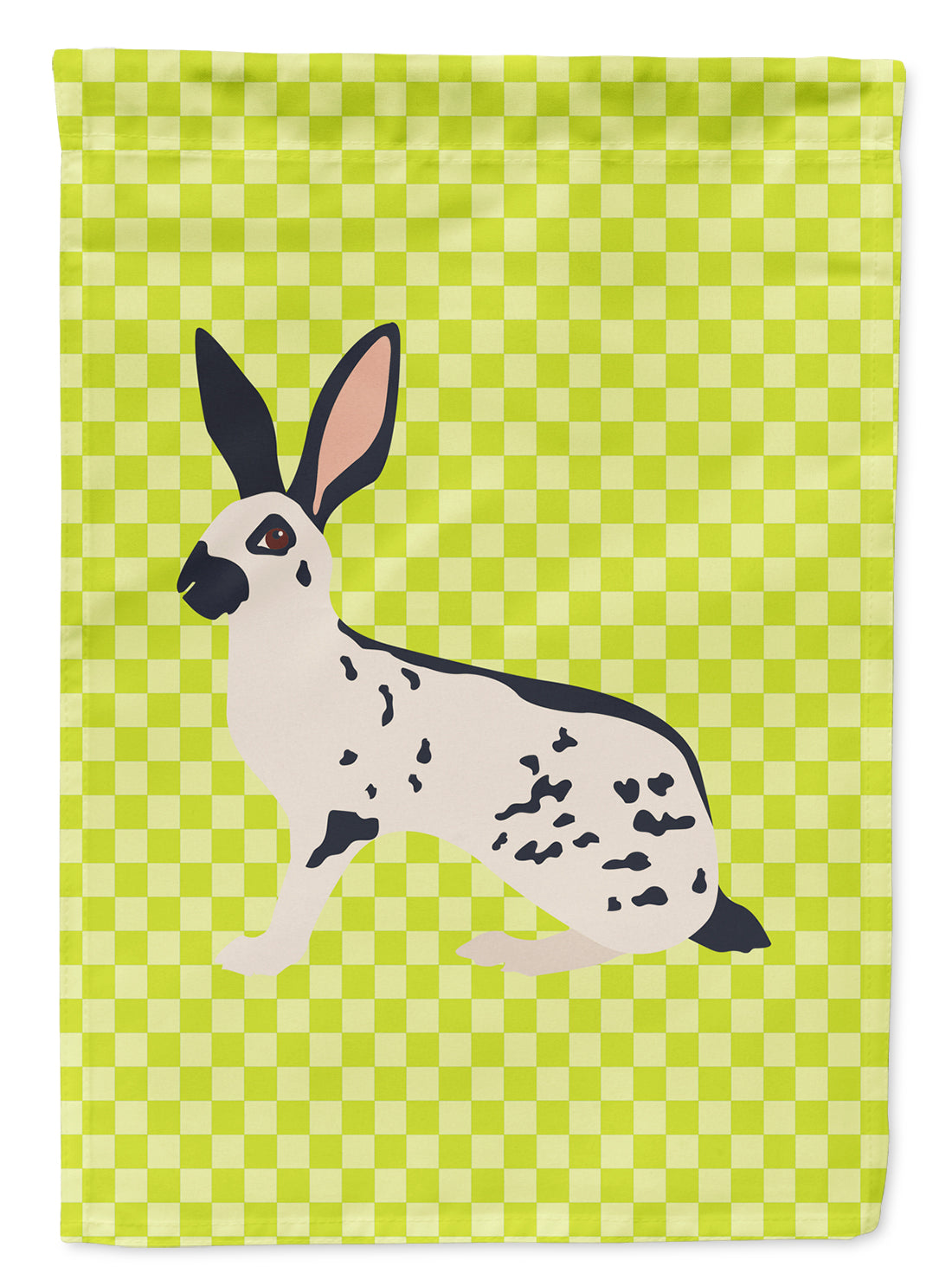 English Spot Rabbit Green Flag Canvas House Size BB7787CHF by Caroline's Treasures